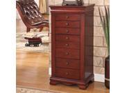 """Nathan Direct Marquis 8 Drawer Locking Jewelry Armoire (Cherry) (40""""H x 19""""W x 13""""D) J1150ARM-L-CH"""