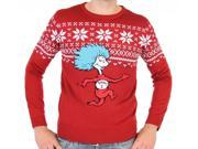 Dr. Seuss Thing 1 Is On The Run Adult Sweater