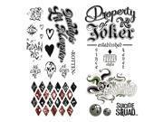 DC Comics Suicide Squad Harley Quinn Joker Temporary Tattoos 9SIA54M51D1190