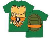 TMNT Teenage Mutant Ninja Turtles Michelangelo Costume Green T-Shirt with Ora... 9SIA54M1N08016