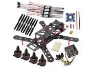 DIY QAV250 V2 Quadcopter Sunnysky X1806S Motor OPTO 12A ESC CC3D FC 6030 Props