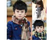 The new fall and winter scarves tide children baby boys and girls classic plaid cashmere scarves warm longer , checkered