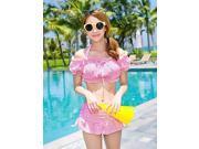 Women's Halter Bikinis/Multi-pieces , Ruffle Push-up Spandex Pink/Blue , blue-m , blue-m