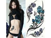 Topwin New Removable Ladies Body Art Sticker Unisex Butterfly Rose Temporary Tattoo 9SIAB1Z5CX1674