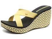 New Ipanema Brasil Cruise Wedge Yellow Black Womens Sandals Size 8