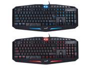 2 Colors LED Backlight Illuminated Ergonomic Gaming USB Wired Keyboard Laptop PC 9SIA57534H4688
