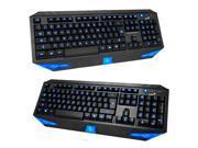 Blue LED Illuminated Ergonomic Backlight Gaming Game USB Wired Keyboard On/Off 9SIA5753514708
