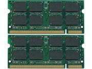 4GB kit (2*2GB) PC2-6400 DDR2-800MHz 200-Pin SODIMM Unbuffered Non-ecc Laptop Notebook Memory