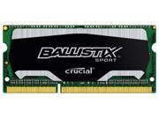 Crucial Ballistix Sport 4GB DDR3 1600MHz PC12800 Non-ECC Sodimm Laptop Memory 204 Pin