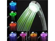 New Hand held Water-Saving Automatic Color RGB Changing LED Rain Shower Head