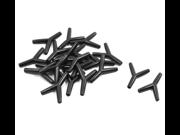 20pcs Y Shaped 5mm Air Hose Tubing Connector Jointer Black for Aquarium