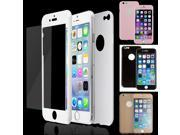 Mirror Tempered Glass + Film Front + Back Screen Protector case cover for iPhone 6 Plus 9SIA57A34X9017