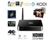 Vibob Android 5.1 Smart TV Box TV Media Player with a HDMI Cable, Aluminium Amlogic S905 Quad Core Kodi 15.1 with 8GB Flash Support UHD 4K (Black)
