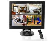 "Sourcingbay 12"" CCTV TFT LCD Monitor Display Computer Screen with a HDMI cable - TV/VGA/AV/HDMI Input (Black)"
