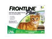 Frontline Plus for cats 3 doses kills Fleas, eggs & Larvae, ticks, Chewing Iice