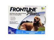 Frontline Plus for Dogs up to 23-44 lbs 3 doses kills Fleas, eggs & Larvae, ticks, Chewing Iice