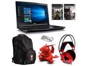 MSI GE72 Apache Pro-242 Gaming Bundle with Gaming Notebook, Backpack, Bullets or Blades Game Bundle, Headphone, MSI Dragon Doll and Dog Tag.
