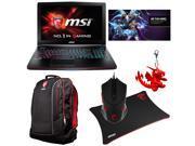 MSI Exclusive Gaming Bundle - GE62 Apache-276 Gaming Laptop, Gaming Notebook Backpack, Gaming Mouse, Gaming Mouse Pad, MSI Dragon Keyring, Hero of Storm Code Card