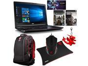 MSI GE72 Apache Pro-242 Gaming Bundle with Gaming Notebook, Backpack, Bullets or Blades Game Bundle, Gaming Mouse, Mouse Pad, MSI Dragon Keyring, and Heroes of Storm Code Card