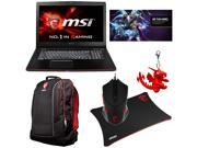 MSI Exclusive Gaming Bundle - GE72 Apache-264 Gaming Laptop, MSI Gaming Notebook Backpack, Gaming Mouse, Mouse Pad, MSI Dragon Keyring, and Heroes of the Storm Code Card