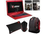 MSI Gaming Bundle - MSI GS70 Stealth Pro-097 Gaming Laptop, Gaming Backpack, Gaming Mouse, Mouse Pad, and Bullets or Blade Game Card