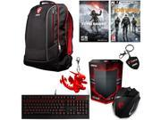 MSI Gaming Bundle with MSI Gaming Backpack, Mouse, Keyboard, MSI Keyrings, Rise of the Tomb Raider Game Code and Tom Clancy's Division Game Code