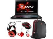 "MSI GS Series GS72 Stealth Pro 4K-202 17.3"" Gaming Laptop  -  Core i7 6700HQ, 6 GB Memory , GeForce GTX 970M, 1 TB HDD, 256 GB SSD + Gaming Bundle"