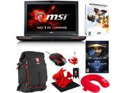 "MSI GT72 Dominator Pro G-034 17.3"" Gaming Laptop - Core i7-6700HQ - NVIDIA Geforce GTX980M, 256GB SSD/ 1TB HDD, 24GB Memory + Gaming Bundle"