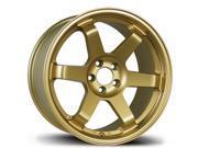 Avid.1 AV-06 17x9 5-100 +42 Gold Wheels Rims WRX SUBARU LEGACY SCION CELICA