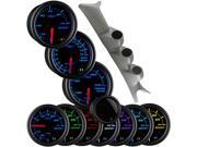 GlowShift 99-07 Gray Ford Superduty Package w/ Tinted 7 Color Boost, EGT & Trans Temp Gauges