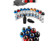 NEW VOLK 20pcs lock racing lug nuts + 1 security key per set (Red Blue Black Golden) P1.25/P1.5