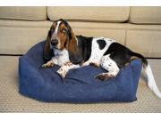 Iconic Pet 92107 Luxury Swaddlez Luxury Bolster Pet Bed Denim Large