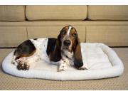 Iconic Pet 92054 W Synthetic Sheepskin Handy Bed White Small
