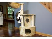 Iconic Pet Peek a boo Cat Tree with sisal scratching posts Beige