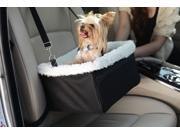Iconic Pet FurryGo Adjustable Luxury Pet Car Booster Seat Black Small
