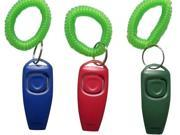 BAFX Products (TM) Pack of THREE / 2 in 1 - Dog training clicker & whistle - W/ Key ring & Wrist strap 9SIA59N1P29112