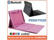 AIYZE For Samsung Galaxy Note 10.1 Wireless Bluetooth Silicone keyboard Leather Stand Case for Samsung Galaxy Note 10.1 2014 Edition P600 High Quality ! Waterproof and Anti-Dust Plastic -Pink