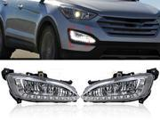 12 LED Car Styling DRL Brand New High Quality Daytime Running Lights For Hyundai Santa Fe Third Generation 3rd 2013 2014 Color White 9SIA5AP2R27726