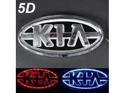 New Car Auto LED Cold Light 5D Front/Back Logo Emblem Badge Laser Lamp Compatible For Kia Three Colors Red/Blue/White