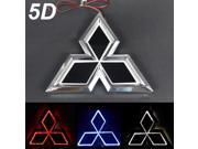Car Front/Rear Logo 5D LED Cold Light Auto Emblem Badge Laser Bulb Lamp Compatible For Mitsubishi Three Colors Red/Blue/White