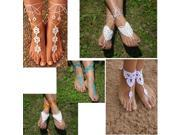 2PC Barefoot Crochet Sandals Bohemian Beach Wed Yoga Dancing Foot Jewelry Anklet 9SIA5B51NJ7927