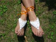 2PC Barefoot Crochet Sandals Bohemian Beach Wed Yoga Dancing Foot Jewelry Anklet 9SIA5B51NK8490