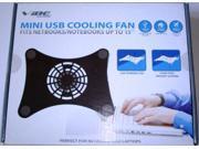 Vibe Mini USB Cooling Fan for 12in-15in Laptops/Netbooks, Model: VA-09-CF