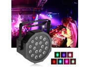 18W 7 CH. LED RGB Stage PAR Light Disco DJ Lighting Club Party DMX-512 Strobe