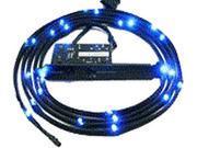 NZXT 1M Blue Sleeved LED Kit, 3-Step Light Sensitivity, Model: CB-LED10-BU