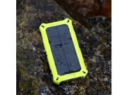 ZeroLemon SolarJuice 8000mAh Fast Portable Charger External Battery Power Bank with Solar Charging Technology for Smartphones/Tablets - Rain-resistant and Dirt/Shockproof