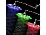 "HotelSpa® Giant 10"" Rain Color-Change LED Showerhead w/ Adjustable Extension Arm"