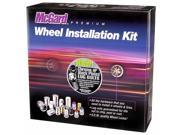 McGard 67200BK Black Chrome Bolt Wheel Install Kit - M14x1.5 (17mm)