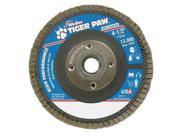 WEILER 51126 Flap Disc Type 29 4 1 2in. dia. 80 Grit