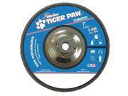 WEILER 51143 Abrasive Flap Disc, Fine, 7in., Phenolic